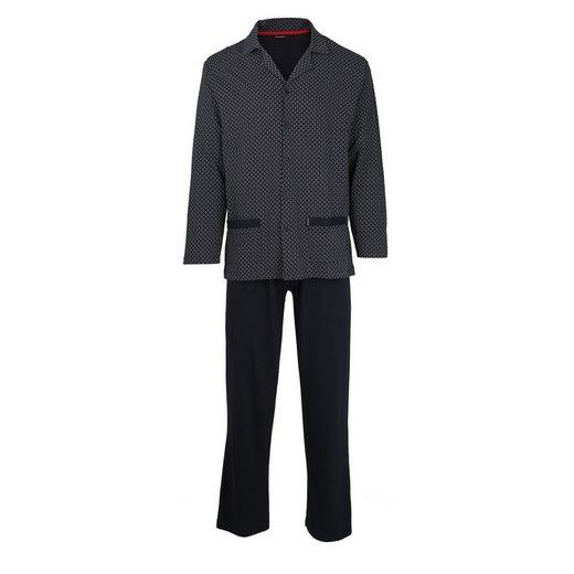 GÖTZBURG Pyjama »Herren Schlafanzug Set - lang, Baumwolle,«