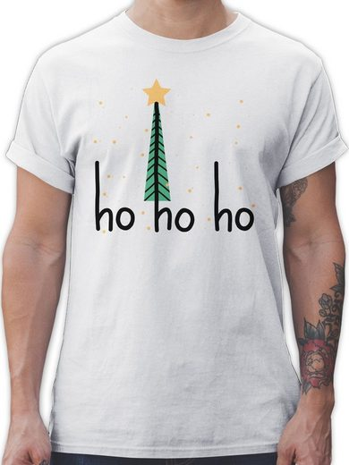 Shirtracer T-Shirt »Ho ho ho Motiv - Weihnachten & Silvester Geschenke - Herren Premium T-Shirt« Neujahrsgeschenke Party Deko