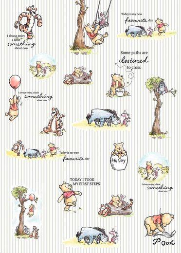 KOMAR Vliestapete »Winnie Pooh - Stripes«