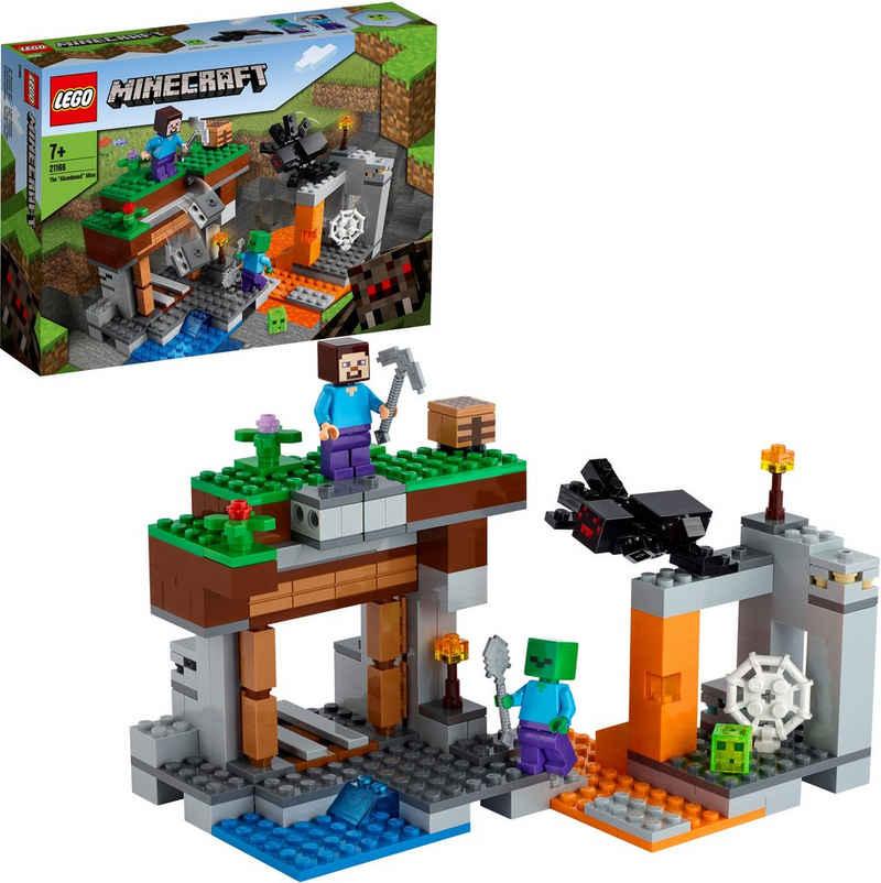 LEGO® Konstruktionsspielsteine »Die verlassene Mine (21166), LEGO® Minecraft™«, (248 St), Made in Europe