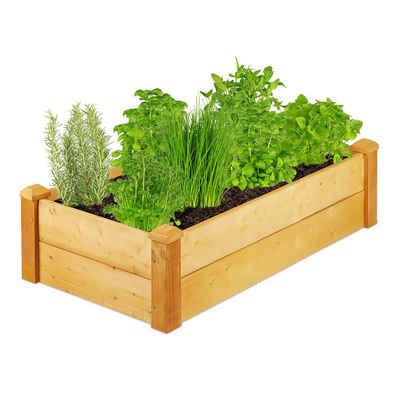 relaxdays Hochbeet »Hochbeet Holz für Garten«