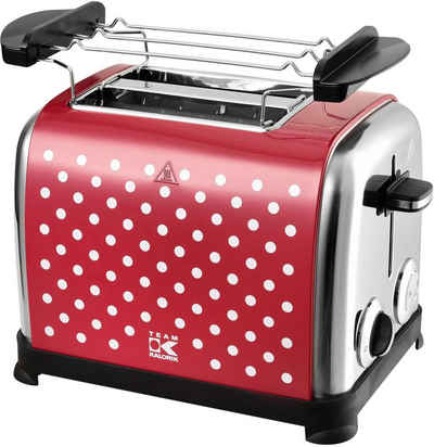 Team Kalorik Toaster TKG TO 1045 RWD N, 2 kurze Schlitze, 950 W, mit Toastzentrierung