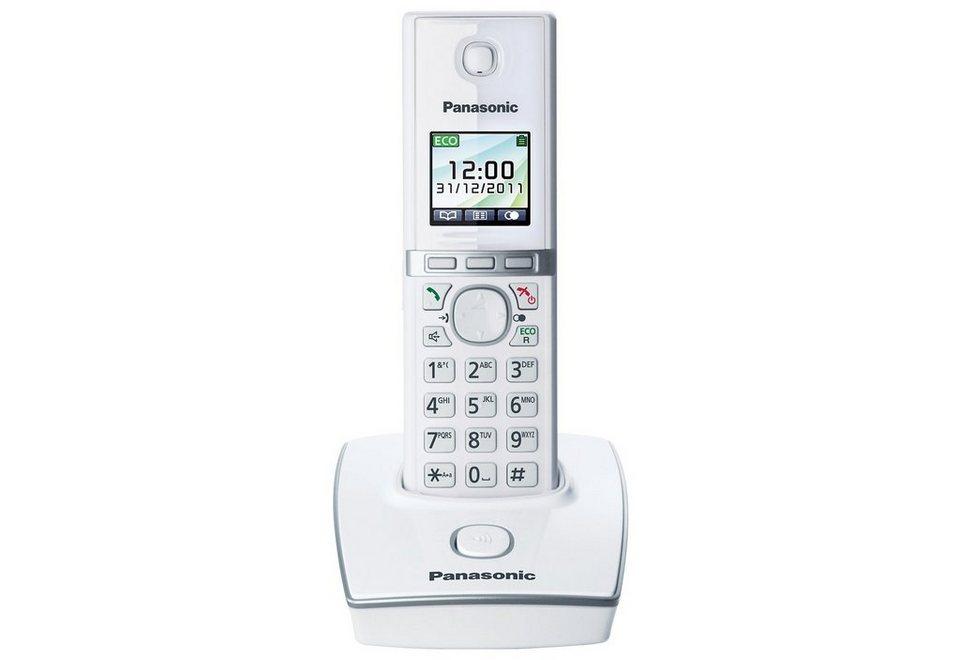 Panasonic KX-TG8051G Telefon in weiß-klavierlackoptik