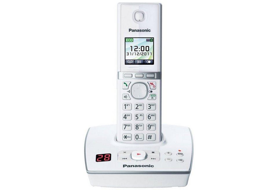 Panasonic KX-TG8061G Schnurloses DECT Telefon mit AB in weiß-klavierlackoptik