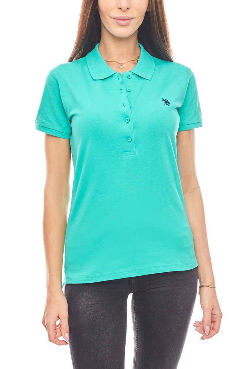 U.S. Polo Assn Poloshirt »U.S. POLO ASSN. stylisches Polohemd Polo Damen Poloshirt Grün«