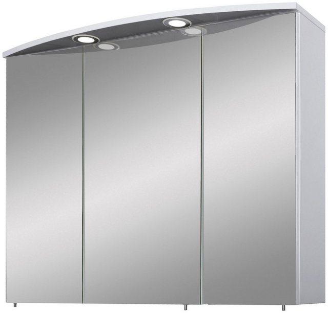 Spiegel - Schildmeyer Spiegelschrank »Verona« Breite 90 cm, 3 türig, 2 LED Einbaustrahler, Schalter Steckdosenbox, Glaseinlegeböden, Made in Germany  - Onlineshop OTTO