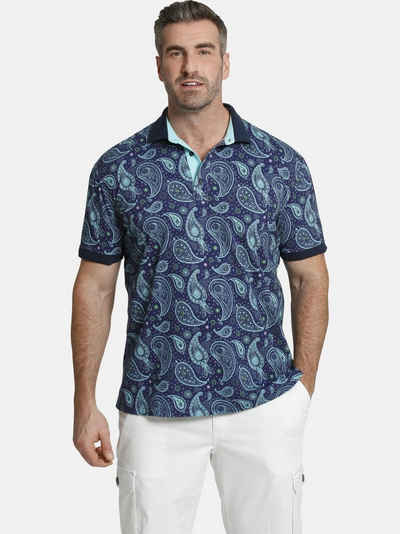 Charles Colby Poloshirt »EARL SUITBERT« Paisley Muster, Comfort Fit