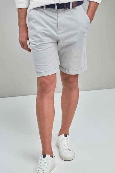 Next Chinoshorts »Shorts mit Gürtel und schmalen Streifen« (2-tlg)