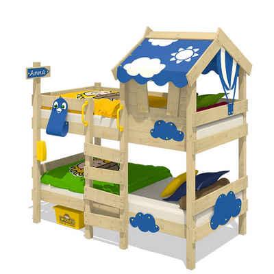 Wickey Kinderbett »Etagenbett Crazy Daisy, Plane Hausbett, 90 x 200 cm Hochbett«