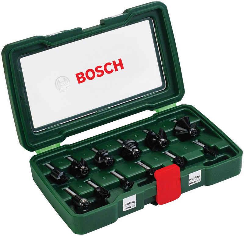 Bosch Powertools Fräsbohrer, (Set, 12-tlg), HM-Fräser 8 mm Schaft