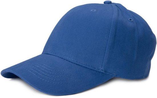 styleBREAKER Baseball Cap »6 Panel Cap mit gebürsteter Oberfläche«