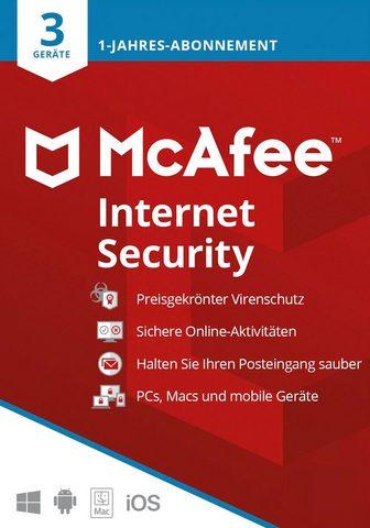 McAfee Internet Security 3 Geräte - 1 Jahr (D...