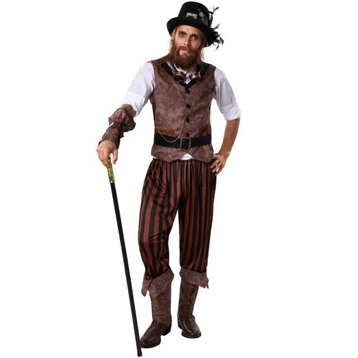 tectake Kostüm »Herrenkostüm Steampunk Abenteurer«