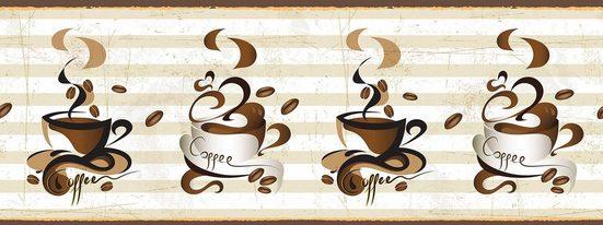 Consalnet Fototapete »Tassen Kaffee«, für Küchenrückwand, Büro oder Wohnzimmer