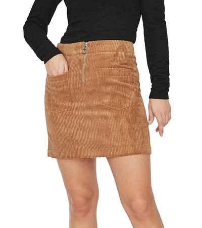 Vero Moda Minirock »VERO MODA Cordatine Mini-Rock stylischer Damen Trend-Rock in Cord-Optik Designer-Rock Hellbraun«