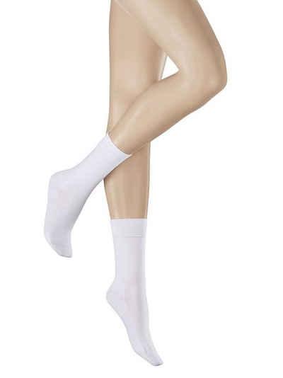 Hudson Socken »Relax Cotton« (Paar, 1 Paar) flache, handgekettelte Zehennaht und partielle Verstärkung in den Belastungszonen