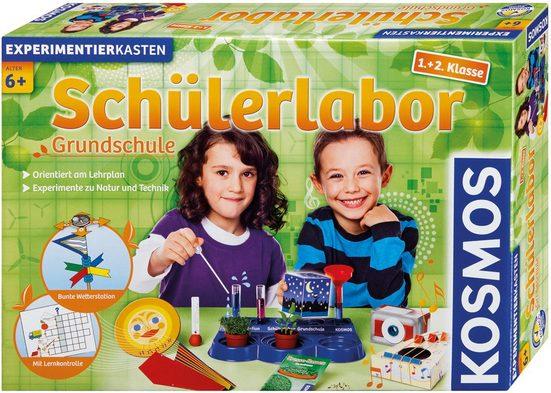 Kosmos Experimentierkasten »Schülerlabor Grundschule 1.+2. Klasse«, (53-tlg), Made in Germany