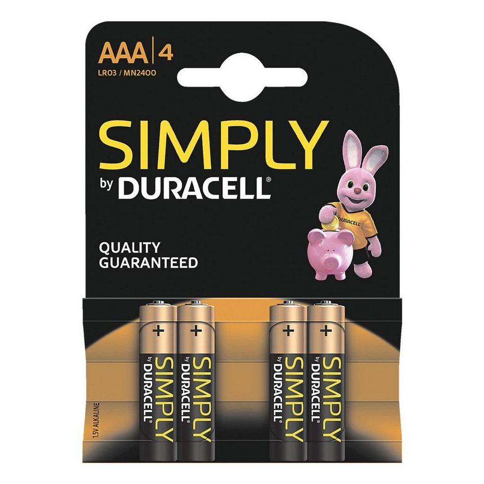 Duracell Batterien »Simply« Micro / AAA / LR03