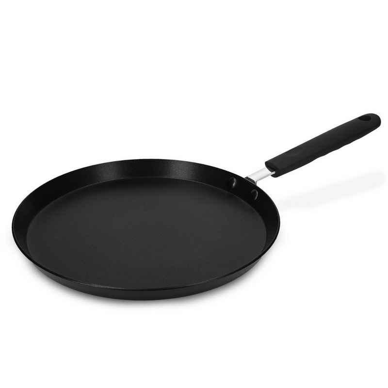 Navaris Crêpepfanne, Gusseisen, Pfannkuchenpfanne Palatschinkenpfanne - 26cm Pfanne für Crêpes, Pfannkuchen und Pancakes - alle Kochflächen - Antihaftbeschichtung