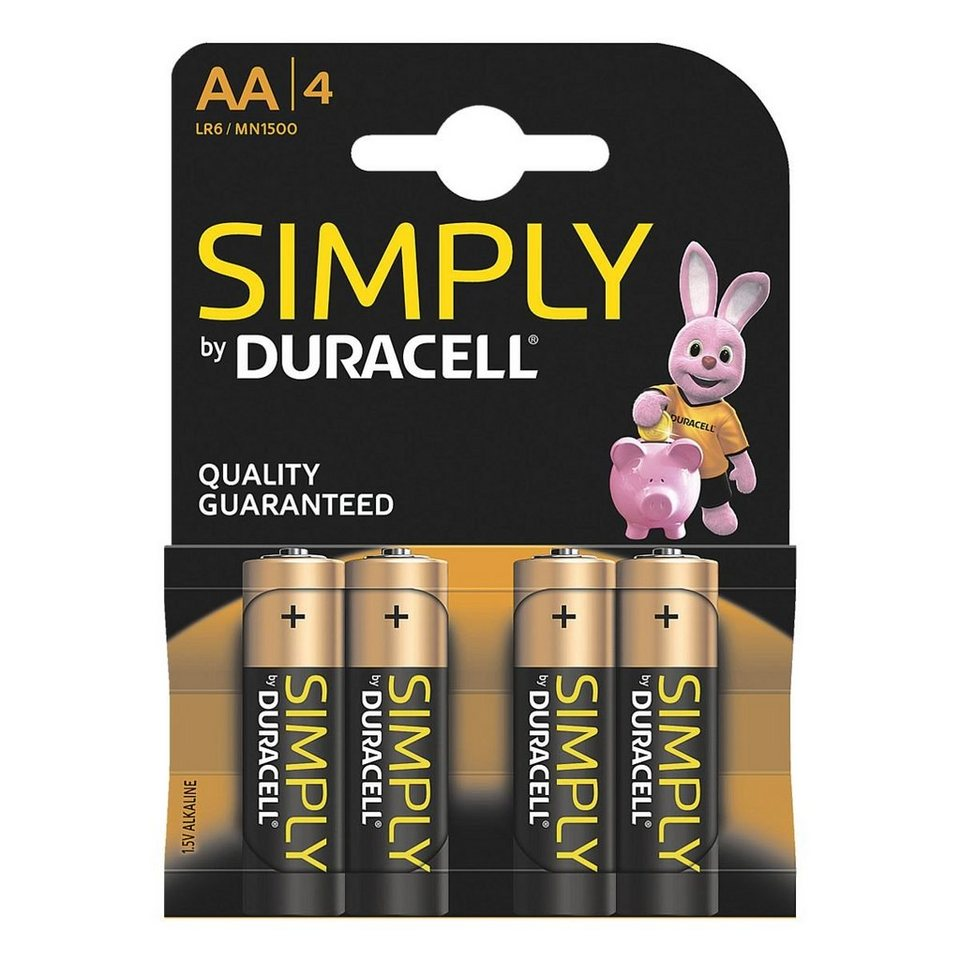 duracell batterien simply mignon aa lr06 otto. Black Bedroom Furniture Sets. Home Design Ideas