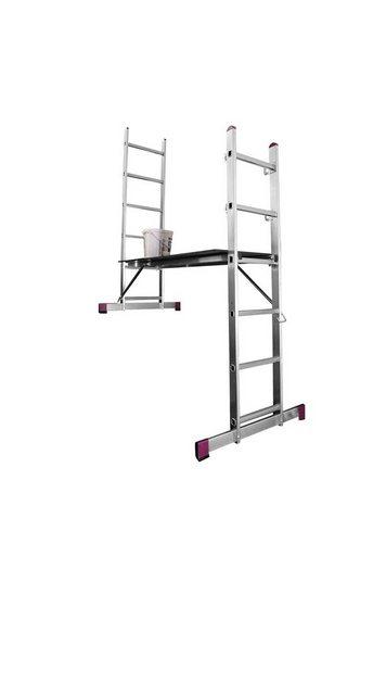 KRAUSE Leiterngerüst »CORDA«| 3 in 1| 2x6 Sprossen | Baumarkt > Leitern und Treppen > Leitergerüst | KRAUSE