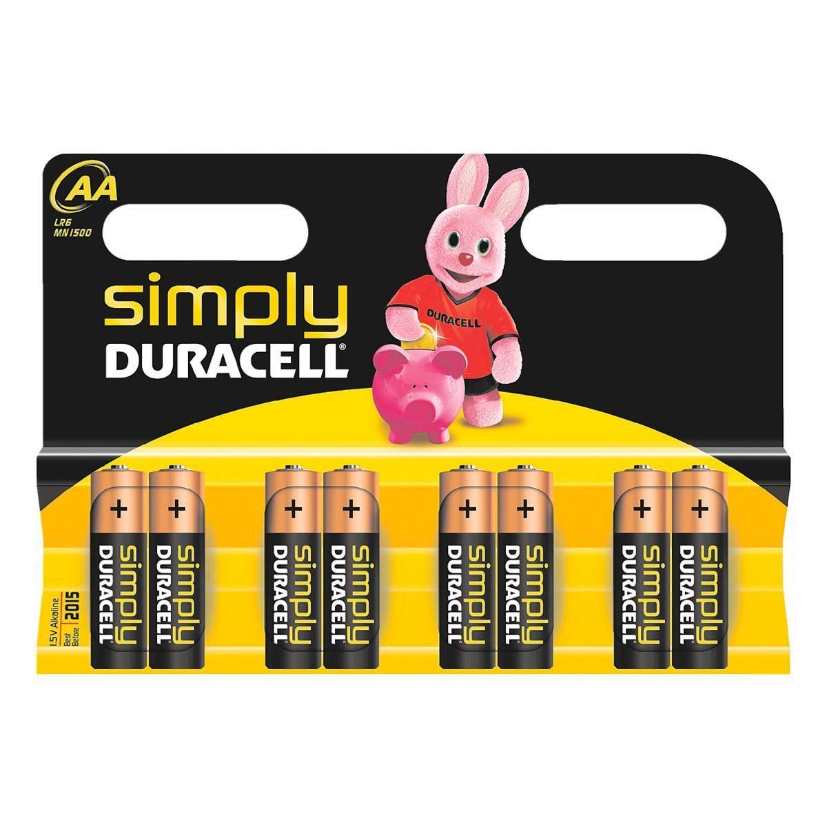 Duracell Batterien »Simply« Mignon / AA / LR06