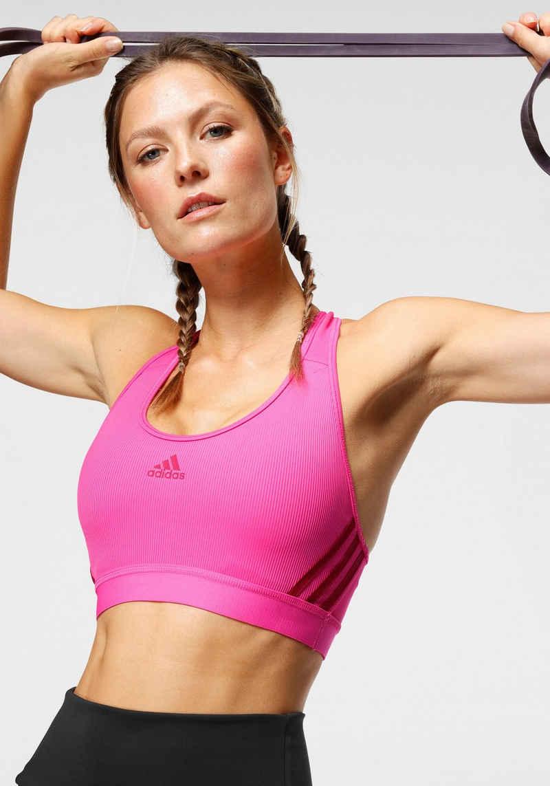 adidas Performance Sport-BH »BELIEVE THIS 3-STRIPES RIB BRA«