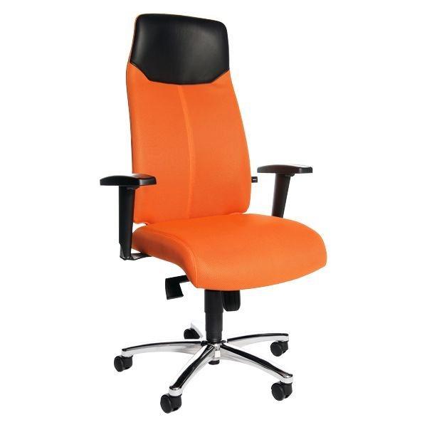 Topstar Bürostuhl »High Sit Up« mit Armlehnen in orange