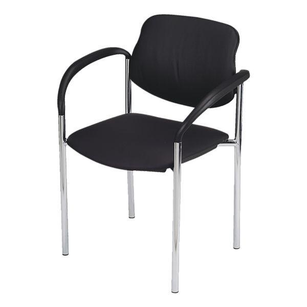 Nowy Styl 2er-Set Besucherstühle »Styl« in schwarz