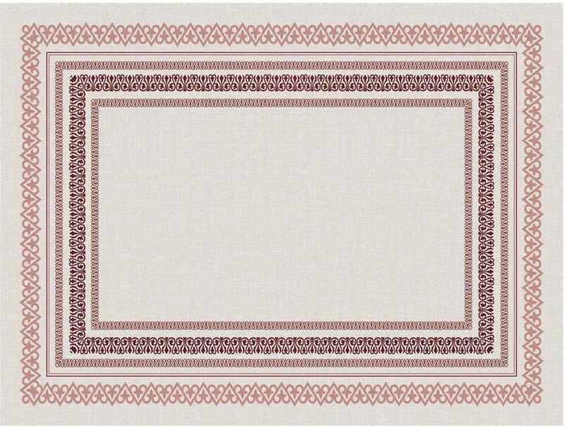 Platzset, »Matteo«, Contento, (Set, 4-St), für den Innen- und Außenbereich, wasserabweisend, rot-naturweiß, 30x40 cm