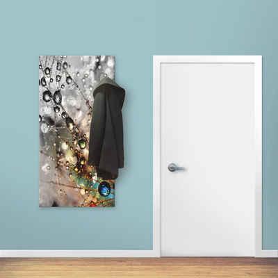 Artland Garderobe »Farbenfrohe Natur«, platzsparende Wandgarderobe aus Holz mit 6 Haken, geeignet für kleinen, schmalen Flur, Flurgarderobe