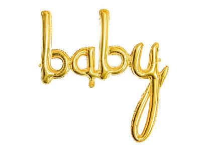 partydeco Luftballon, Folienballon Baby / Babyparty 73.5cm, gold