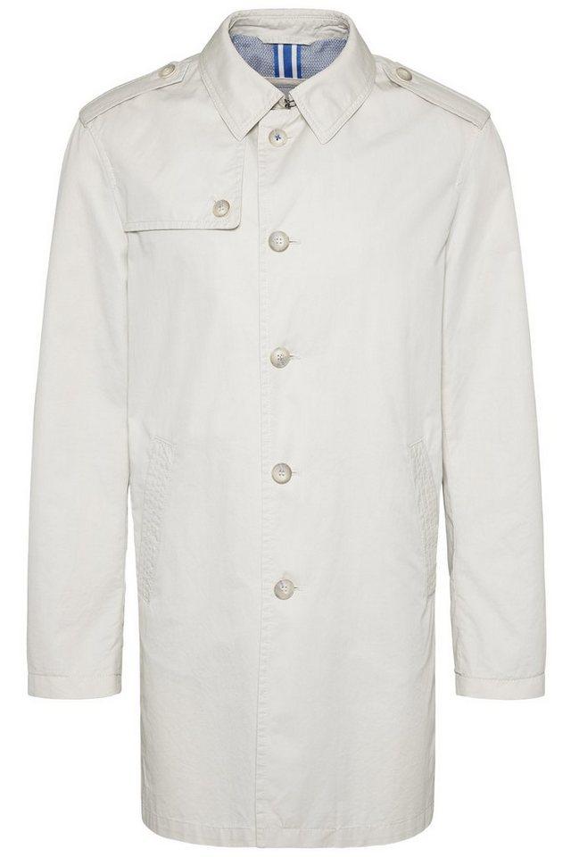 bugatti -  Trenchcoat aus reiner Baumwolle