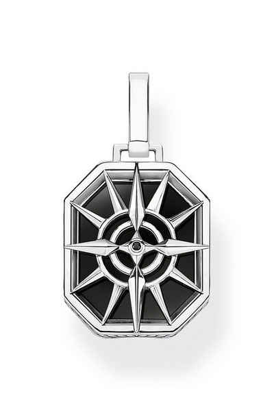 THOMAS SABO Kettenanhänger »Kompass Stern Schwarz«