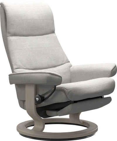 Stressless® Relaxsessel »View«, mit Classic Base und Power™, elektrisch verstellbar, optional 2-motorisch, Größe M & L, Gestell Whitewash