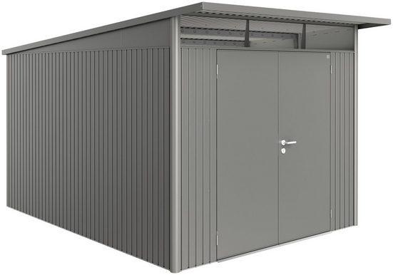 BIOHORT Stahlgerätehaus »AvantGarde XXL«, BxT: 252 x 332 cm, quarzgrau metallic