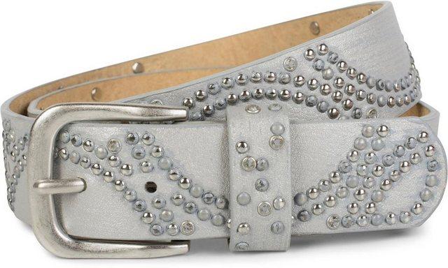 styleBREAKER Nietengürtel »Gürtel mit Bogenförmig angeordneten Kugelnieten« Gürtel mit Bogenförmig angeordneten Kugelnieten | Accessoires > Gürtel > Nietengürtel | styleBREAKER