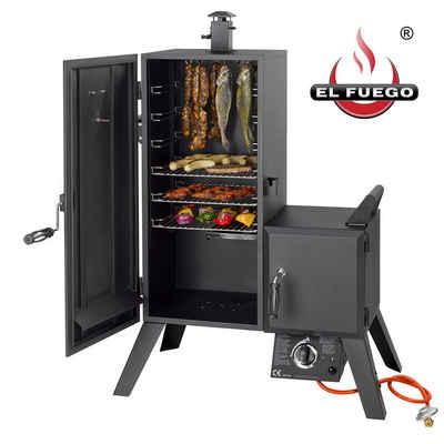 El Fuego Gasgrill, mit Thermometer, Räucherofen Smoker Grill Barbecue BBQ