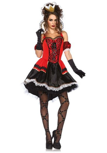 24costumes Kostüm »Royally Sexy Queen - Groesse: L - Farbe: Red, Black«