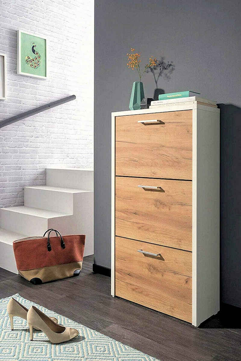 moebel-dich-auf Schuhkipper »FULDA 1« (Schuhschrank Schuhregal Schrank Garderobe), mit Doppelwalze