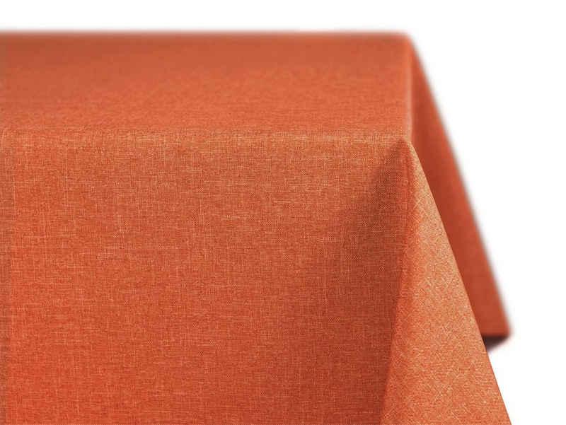 Beautex Tischdecke »Beautex fleckenabweisende und bügelfreie Tischdecke - Tischtuch mit Lotuseffekt - Tischwäsche in Leinenoptik« (1-tlg)