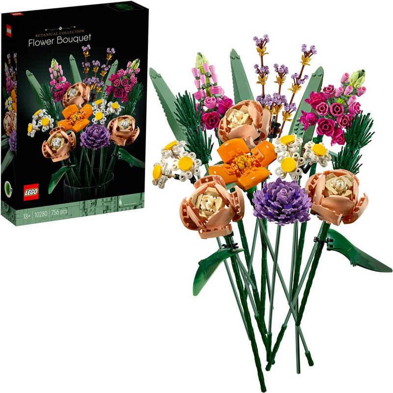 LEGO® Konstruktionsspielsteine »Blumenstrauß (10280), LEGO® Creator Expert«, (756 St), Made in Europe