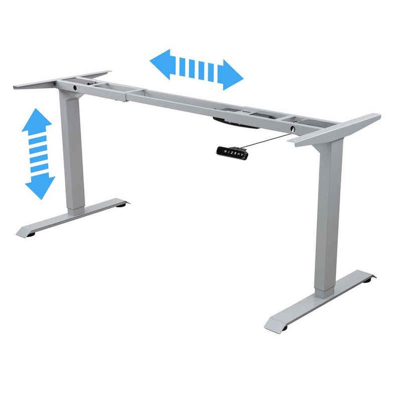Albatros Schreibtisch »Albatros Schreibtisch-Gestell LIFT S5S silber, elektrisch höhenverstellbar mit Memory-Funktion, Kollisionsschutz und Soft-Start/Stop«