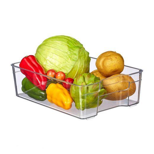 relaxdays Aufbewahrungsbox »Kühlschrank Organizer mit Griffen«, Kunststoff