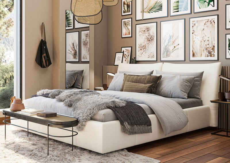 Places of Style Polsterbett »Manaurie«, auch in NaturLEDER, belastbar bis 280kg, auch in Überlänge 220 cm