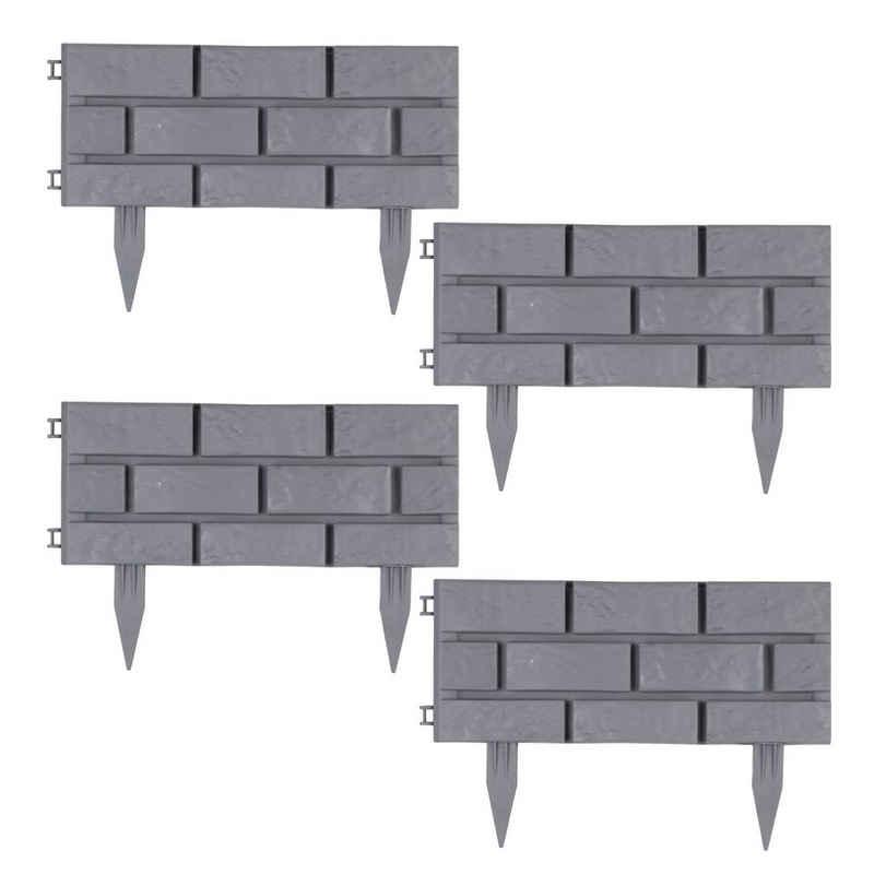 HTI-Living Beetumrandung »Beeteinfassung Steinmauer 4-teilig Nessa«