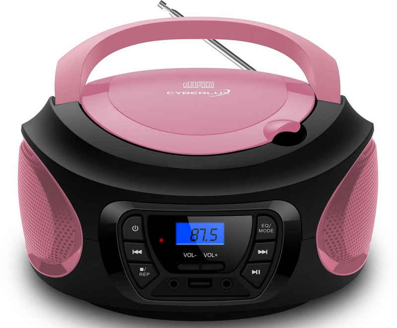 Cyberlux »CL-620« tragbarer CD-Player (CD-Player, Tragbarer CD-Player, FM Radio mit MP3 USB)