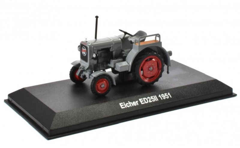Editions Atlas Modelltraktor »Historischer Traktor 1951 Eicher ED 25 II grau 1:43 by IXO for Hachette Metall Kunststoff«, Maßstab 1:43