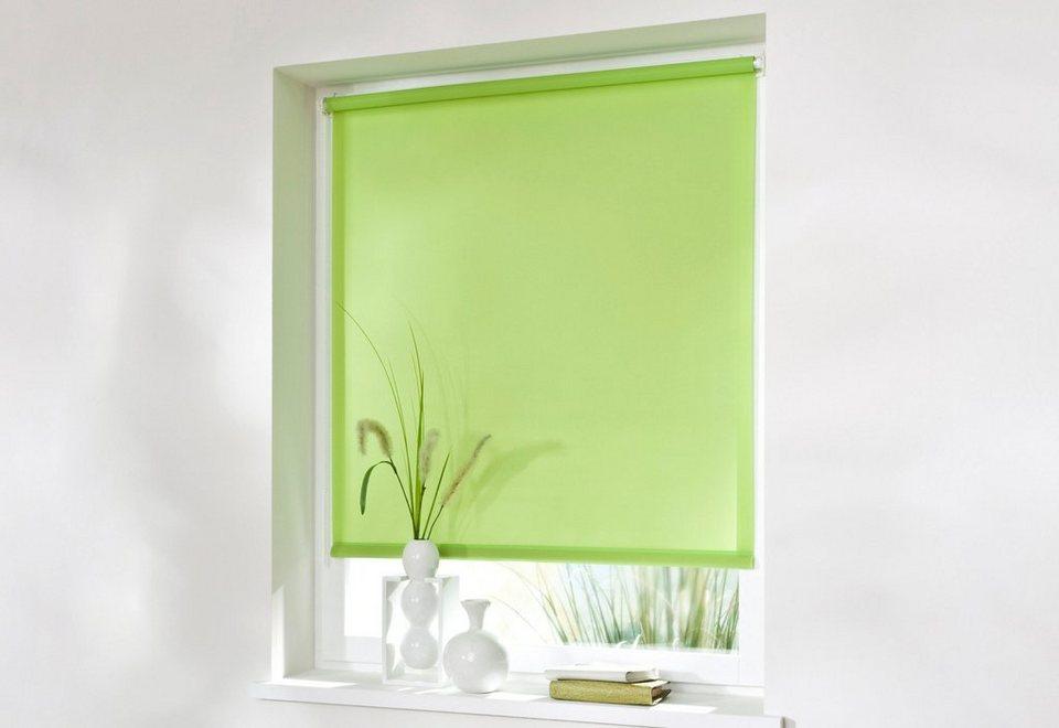 Seitenzugrollo, Sunlines, »SZR uni«, Wunschmaß, Verdunkelung/Energiesparend (1 Stck.) in hellgrün