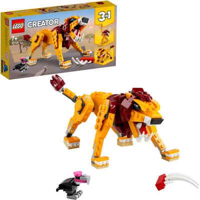 LEGO® Konstruktionsspielsteine »Wilder Löwe (31112), LEGO® Creator 3in1«, (224 St), Made in Europe